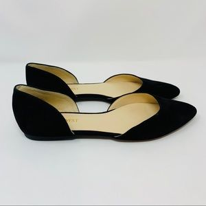 Nine West Black Starship d'Orsay Flats, Size 5.5